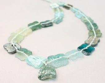 Ancient Roman Glass, Glass Beads, Roman Glass, Roman Glass Jewelry, Glass Jewelry, Roman Glass Necklace, Glass Necklace, Gemstones