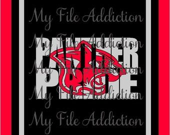Instant Download SVG EPS Vinyl Design File Panther Pride Knockout