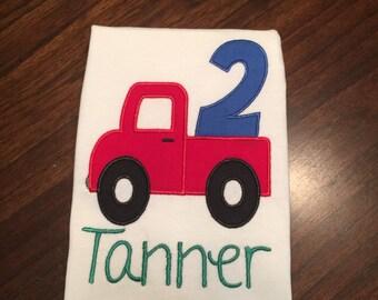 Boy's Birthday Truck Shirt