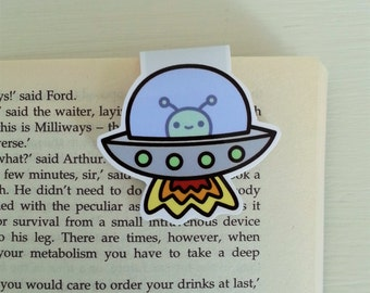 Kawaii space magnetic bookmarks-individual or set of 5