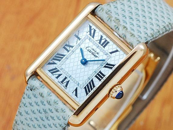 Cartier 18k Gold Watch Cartier Tank 18k Gold Vermeil
