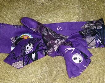 Nightmare before Christmas fabric headwrap.