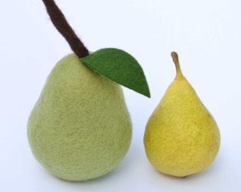 Felted Pear - filled with cinnamon and cloves.  One of your 5 a Day