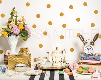 Vintage Tea Set & Macarons Styled Desktop Product Photo #44