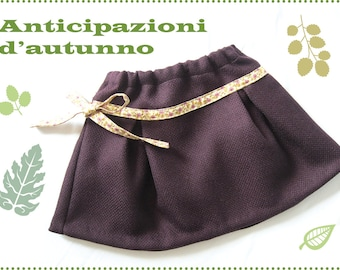 Plum skirt wool fabric