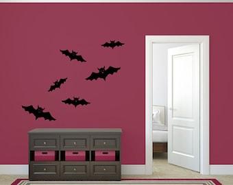 Bats Decal Halloween Set of Bats Vinyl Wall Sticker