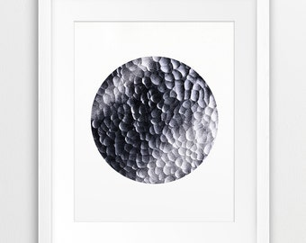 Abstract Circle Printable File, Abstract Art Grey Black White - Modern Minimalist Wall Art Home Office Decor Digital Print Instant Download
