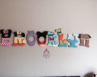 Custom Mickey Mouse Clubhouse Wood Hanging Name