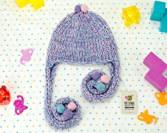 Baby winter hat - Winter hats for babies made from special yarn. Unique design, free gift wrapping, 3375 colors!