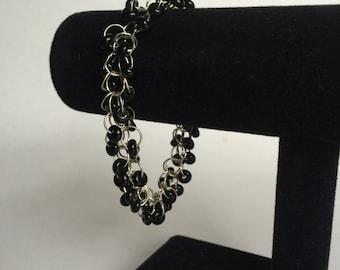 Black Bead Shaggy Loop Bracelet