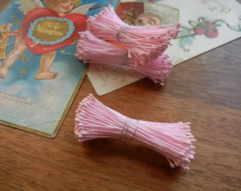 Pink double tipped Flower Stamens for crafting and millinery