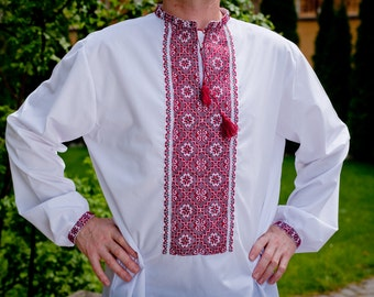 Ukrainian embroidery for man / Ukrainian embroidered shirt / Personal gifts for him / Custom made embroidery shirts / Ukrainian gift