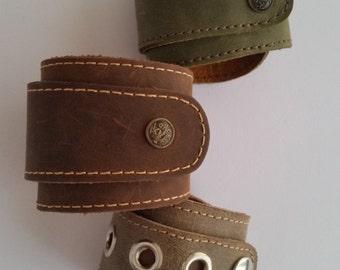 Leather bracelet, genuine leather wristband, first class leather cuff bracelet, wrist band,