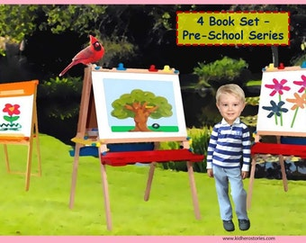 4x Personalized Children's Books with Photo- Set of 4 personalized kids eBooks for Pre-Schoolers with their photo and name.