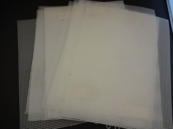 Lot of 16 plastic craft sheets needlecraft by for Clear plastic sheets for crafts