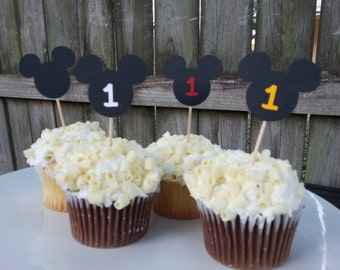 24 ct. Mickey Mouse cupcake toppers
