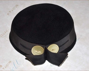 Brown Velour Hat, Brown Pillbox Hat, Chocolate Velour Hat, Ladies Velour Hat, Ladies Brown Hat, Chocolate Toque Hat, Brown Hats