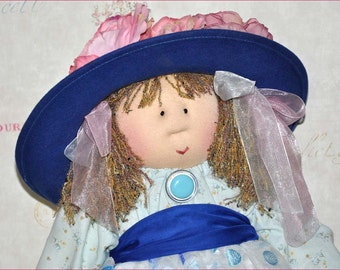 "Little Souls Doll, Little Souls Swanky, Little Souls Aimee 24"", Gretchen Wilson, Cloth Dolls, One-Of-A-Kind, Dolly Mama, Ooak"