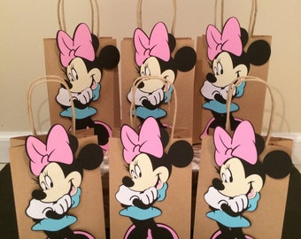 6 Minnie Mouse favor bags
