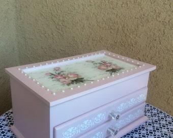 Decoupage jewelry box Decoupage Jewelry storage Decoupage gift box for jewelry Decoupage storage box