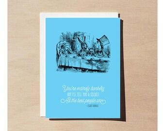 Greeting Card - Alice In Wonderland - Entirely Bonkers