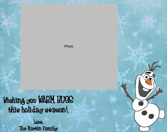 Frozen Holiday Photo Greeting Card