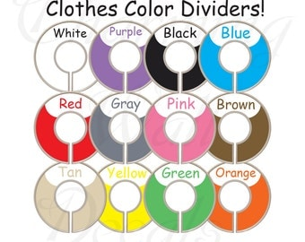 Adult Closet Dividers, Closet Dividers,Colored Closet Dividers,Clothes Color Dividers,Blue Closet Dividers,Orange Closet Dividers