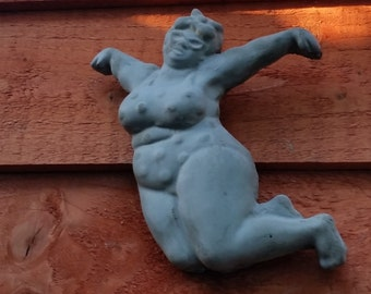 FLYING LADY - Garden Ornament. Cast Stone , Hand Made