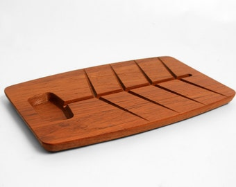 Unique Mid-Century Danish Teak Serving Plate