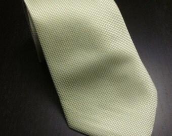 Lime Green Wedding Tie Pastel Sage Necktie 100% Silk Tie