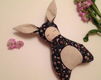 Floral baby girl cloth doll fabric rag doll