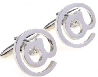 Silver www @ cufflinks