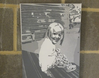 Personal photos stenciled.