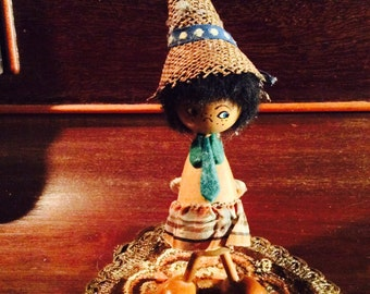 Small Girl Spool Doll