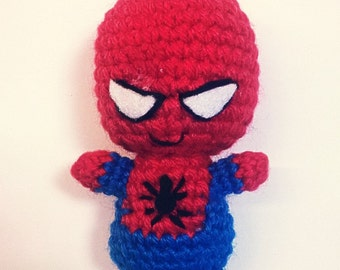 spiderman amigurumi doll