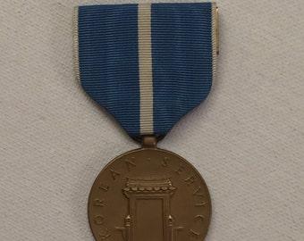Vintage U.S. Korean War Service Medal