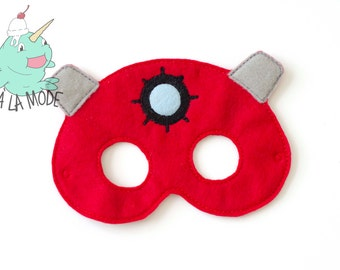Small Dalek Inspired Felt Mask - READY TO SHIP