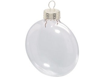 Clear Glass Disc Ornament 31/8 inches  80mm  x 6 pieces 2610-57