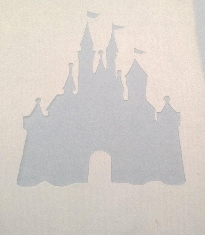 Disney stencil castle princess world cinderella silhouette details cinderella castle stencil amipublicfo Gallery