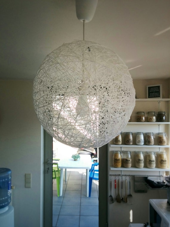 Design Hanglamp Keuken : Pendant Light Made of Yarn