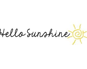 Hello Sunshine, Printable 5x7