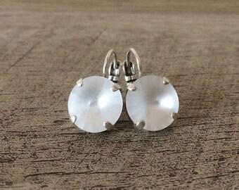 Swarovski Classic Crystal 12mm Rivoli Earrings