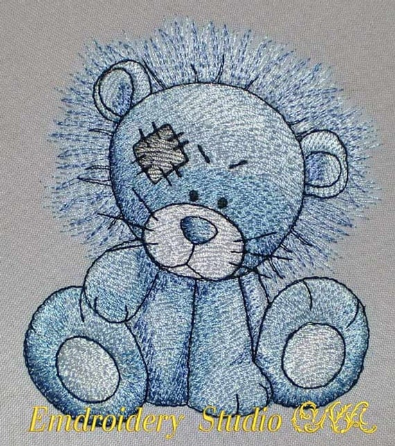 Machine embroidery design children quot rocky the lion of