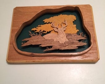 Wooden Three Dimensional Nature Plaque