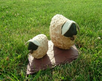 Primitive Sheep~Table/Shelf Sitters~Set Of 2!~ Last Ones! Reduced! Clearance!