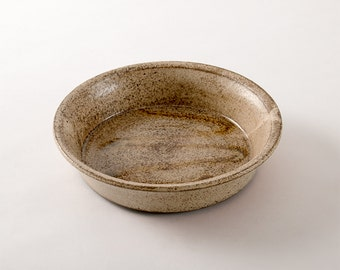 Ceramic Pie Plate, Baking Dish, Casserole, Handmade Pottery  (No. A-pie-1)