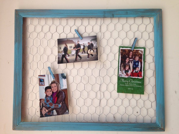 old frame distressed frame chicken wire frame by rustywalnut23