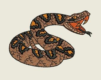 Rattlesnake Machine Embroidery Design
