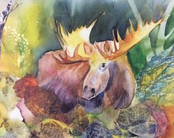 """Moose 8X10"""" Digital Print"""