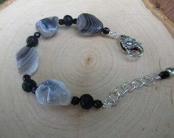 Grey Quartz Bracelet